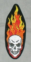 Embroidered Patch Flaming Skull Patch - $3.95