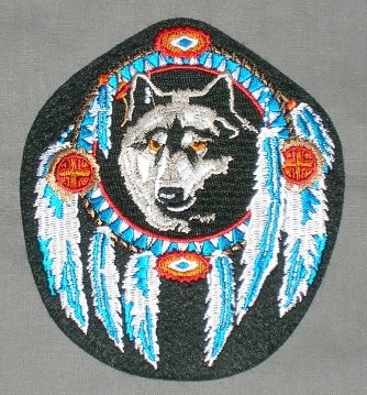 Embroidered Patch Wolf Shield Patch