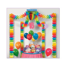 Beistle 16th Birthday Party Canopy- Pack of 6 - $79.62