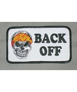 Embroidered Patch Back Off Skull Patch - $3.95