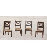 Set of 4 Kitchen Chairs Renwal Plastic Dollhouse Furniture - $38.95