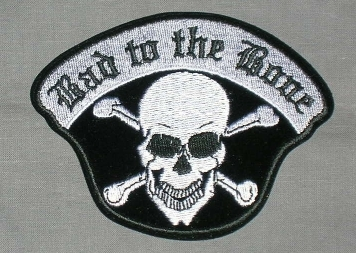 Embroidered Patch Bad To The Bone Patch