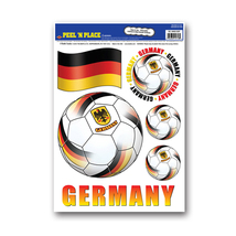 """Beistle Peel 'N Place - Germany 12"""" x 17"""" Sheet (6/Count)- Pack of 12 - $46.03"""
