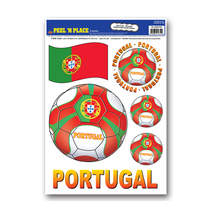 """Beistle Peel 'N Place - Portugal 12"""" x 17"""" Sheet (6/Count)- Pack of 12 - $46.03"""