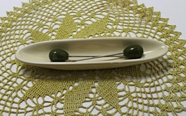 RARE Vintage Shonfelds China olive Server with two Olive Forks - $15.25