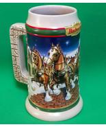 "Holiday Sale!  1998 Budweiser Ceramic Holiday Stein, ""Grant's Farm Holiday"" - $3.95"