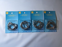 Metal D Rings Nickel 1.25 inches 4 packs - $5.00