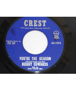 BOBBY EDWARDS You're The Reason 45 VG++ Four Young Men - $14.80
