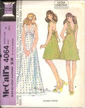 Uncut 1970s Size 10 Bust 32 Easy Halter Dress Summer McCalls 4064 Patter... - $9.99