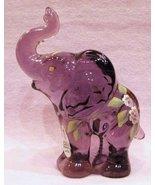 Fenton Elephant Rich Violet Lynn Fenton Signed ... - $54.00