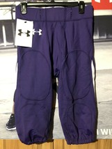 Authentic UNDER ARMOUR NWT Men's Football Purple White Pant Size Large - $94.05