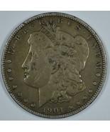 1901 P Morgan circulated silver dollar F details - $75.00