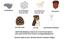BUTTON BUNDLE for 2014 Frosty Forest Series charts JABC Just Another Button - $15.80