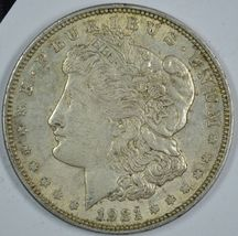 1921 P Morgan circulated silver dollar XF details - $33.00