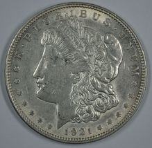 1921 P Morgan circulated silver dollar VF details - $30.00