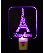 Personalized Eiffel Tower LED Night Light with Name, Paris France - $24.00