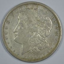 1921 D Morgan circulated silver dollar XF details - $36.00