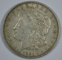 1921 D Morgan circulated silver dollar VF details - $33.00
