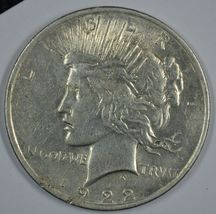 1922 P Peace circulated silver dollar  - $27.00
