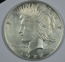 1922 P Peace circulated silver dollar F details - $30.00