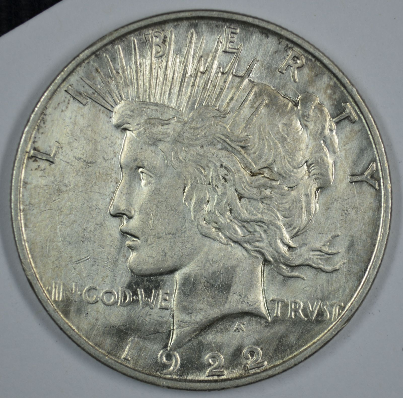 1922 D Peace circulated silver dollar XF details Mulitple Obverse Die Breaks - $45.00