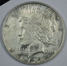 1922 D Peace circulated silver dollar XF details Mulitple Obverse Die Br... - $45.00