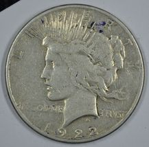 1922 S Peace circulated silver dollar  - $24.50