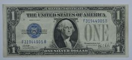 1928 Series B US silver certificate about uncirculated AU  Funny back - $60.00