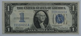 1934 Series US silver certificate about uncirculated AU  Funny back - $65.00