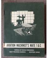 AVIATION MACHINIST'S MATE 1 & C 195? US NAVY BOOK Over-size Navpers 10340 - $44.55