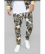 Fashion Nova G Style Mens Small Tiger Print Track Pants Off Drawstring W... - $23.38