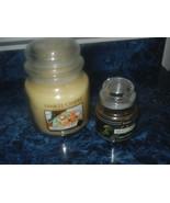 Yankee Candles 14.5 Oz Christmas Cookie & Sm 3.7 Oz ? Mistletoe Glass Ja... - $25.73