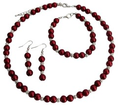 Apple Red Color Jewelry Set Wedding Jewelry Special Customize Holiday - $15.33