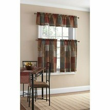 Mainstays Polyester Kitchen Curtain and Valance Set - $21.29