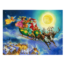 40*30cm Santa Claus Driving 5D DIY Diamond Painting Craft Kit Home Decor... - $20.00