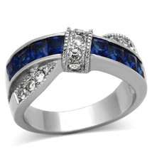 Stainless Steel Princess Cut Montana Cocktail Fashion Ring , Size 5,6,8,9,10 - $28.59