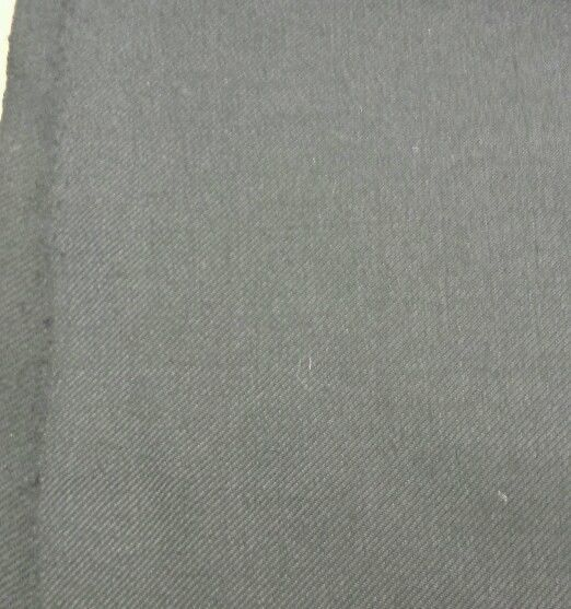Black Twill Full Weight Italian Wool Suit coat Fabric 11 + Yards MSRP 1650