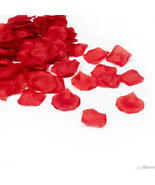 1000 red rose petals to decorate wedding table or drop in aisle   NEW - $9.98