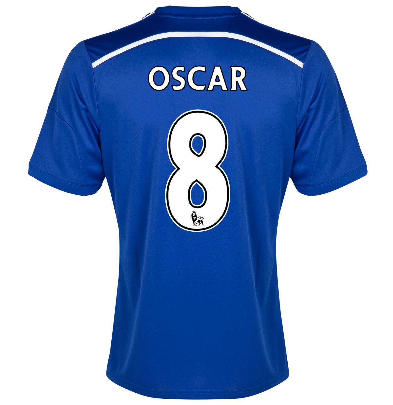 Chelsea 8 oscar home 2014 15 men soccer jersey football for Oscar home