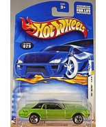 2002 Hot Wheels #29 First Editions 17/42 68 COUGAR Green Gloss Black Roof w/5 Sp - $6.75