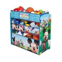 Disney Wooden Toy Bin Organizer Mickey Mouse Shelves Storage Child Bedroom Books - $51.40