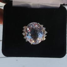 New Nib 15.65 carat pink  Morganite &.5 Carat diamond 14k yellow gold ri... - $2,999.99