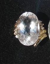 New Nib 8.36 carat pink  Morganite &.12 Carat diamond 14k yellow gold ri... - $999.99