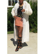 Mint Lord & Taylor full length Rose white Blush Mink & Fox Fur coat S-M ... - $2,499.99