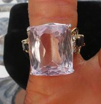 Unique Designer Estate 14.7 carat Kunzite diamond Sapphire 14k gold ring... - $1,999.99