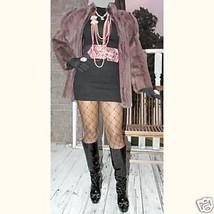 NwoT New Purple brown blush  Mink Fur Coat Bolero jacket Stroller S-M 2-10 - $1,499.00