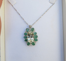 Huge 42.6 carat Yellow Kunzite Emerald Diamond platinum 18k gold and SS ... - $4,899.99