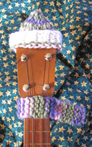 Headstock Hat n Scarf Set For Your Soprano Sized Ukulele/Pink Camo/White... - $6.99