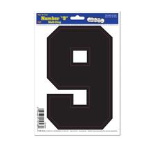"""Beistle Black 9 Peel 'N Place 6"""" x 8.5"""" Sheet- Pack of 12 - $23.62"""