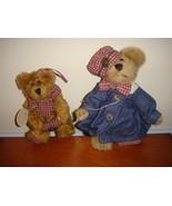"Boyds Bears Plush 6"" Bear With Denim Dress & Red Plaid & Edna May Ornament - $16.99"